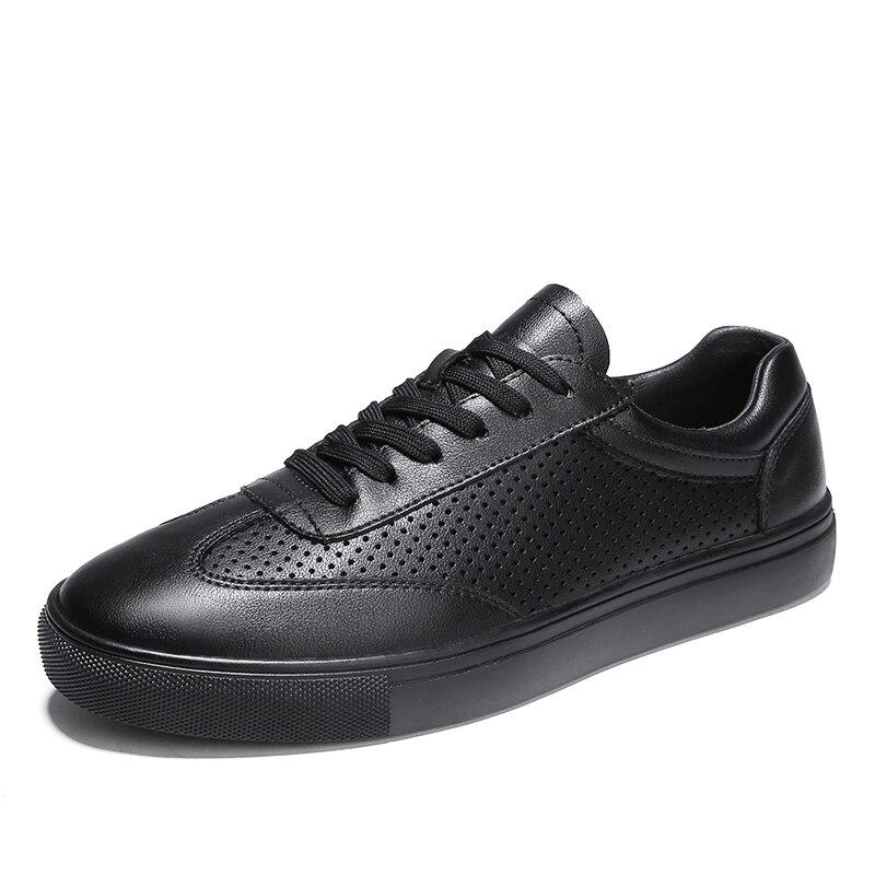 Sapatos Black Malha Condução 46 white De Mesh white Calçados Buracos Caminhada Dos Mesh Vulcanizados Vulcanity Rapque Homens black Sapatilhas Masculinos Das Couro Casuais Respirável 37 x4HIqn