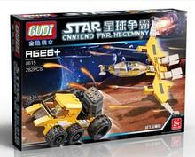 GUDI 8615 Star Wars Space War Interstellar Transport Minifigure Building Block 282Pcs Bricks Toys Compatible with Legoe
