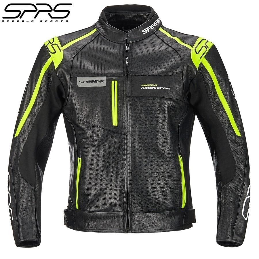 Бесплатная доставка, 1 шт. СПРС зимние мужские Slim Fit Мотокросс мягкой натуральной кожи теплые отражатель мотоциклетная куртка с 5 шт. колодки