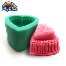 DIY silicone molds for cake pudding jelly dessert chocolate mould 3D birthday cake style handmade candle soap mold S0106DG25