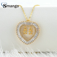 3Pieces,  Women Fashion Shape of Heart  CZ Prong Setting Necklace, Gold Plating Colors. eddiee gomez heart of gold
