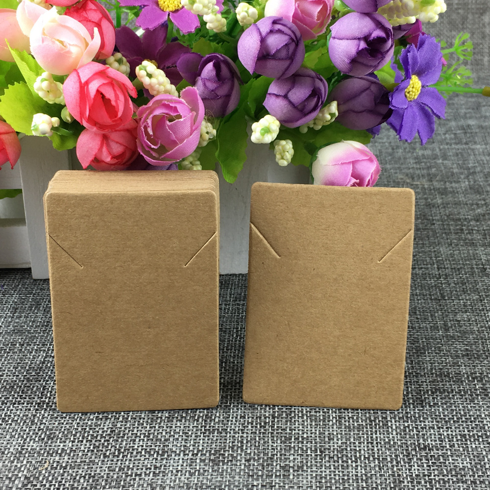 2.95x1.97inch 50pcs/lot Kraft Necklaces Card And Cardboard Bracelet Fashion Jewelry Packing Display Card