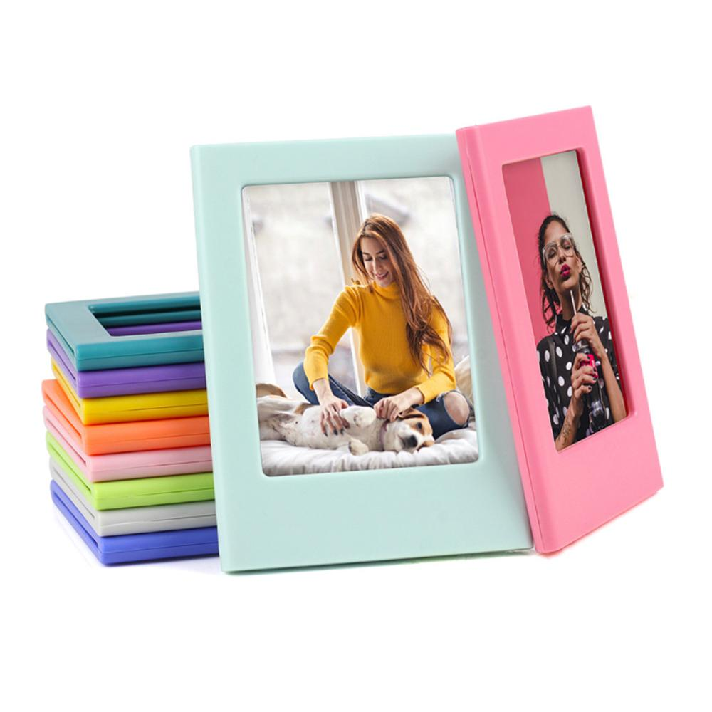Photo Frame Magnetic Mini 3 inch DIY  Picture Combination Assembly Table Decoration Refrigerator Stickers for Fuji Instax Films-in Camera/Video Bags from Consumer Electronics