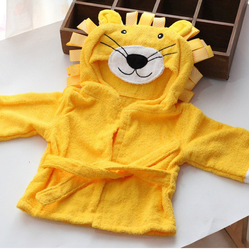 childrens-clothing-boys-girls-Robes-new-winter-spring-autumn-cartoon-baby-bathrobe-Sleepwear-Robe-winter-Pink-rabbit-bear-3