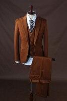 2017 новейшая модель Пальто Штаны дизайн темно коричневый торжественный костюм Homme Для мужчин костюмы для Лучший мужчина костюм смокинг пидж