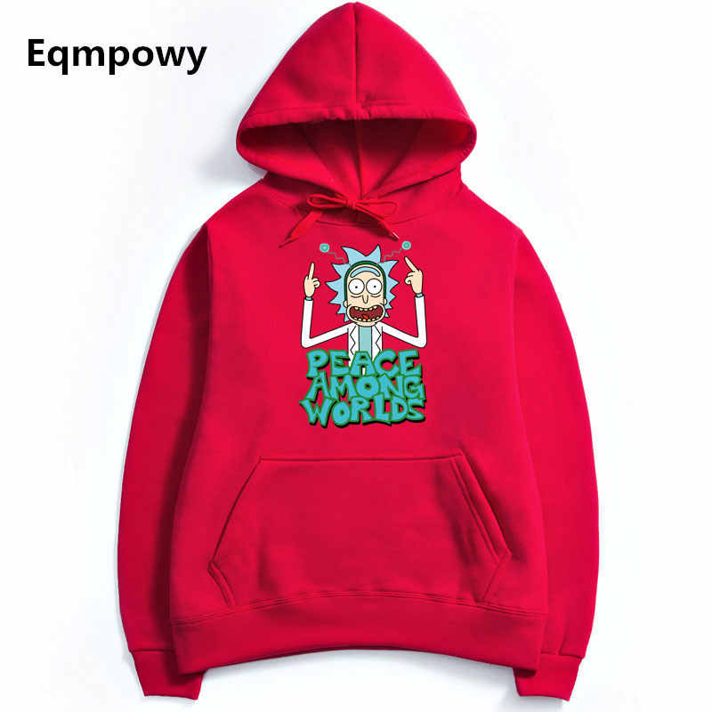 f6109d85b ... 2017 Men/Woman Hip Hop Cool Rick Morty Hoodie Fashion Brand Clothing  Character Sweatshirts Men ...