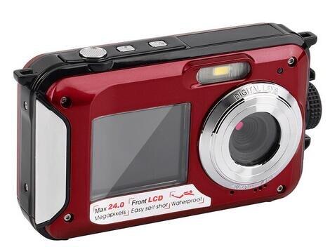 bilder für Full hd 1080 p wasserdichte digitale videokamera/max 24 mega pixel digitalkamera mit dual display kamera freies verschiffen