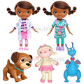 Doc McStuffins Toys Fashion Doc Physician Dentist Girls Lambie Stuffy Dragon Findo Dog Figure Dolls Kids Toy Children Gifts