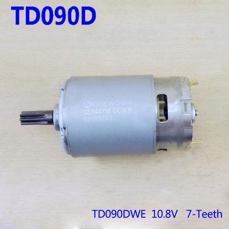 High-quality! Replacement 10.8V 7Teeth DC Motor For Makita Electric hammer TD090DWE. Power Tool accessories high quality electric hammer drill boutique stator case plastic shell for bosch gbh2 22 hammer accessories