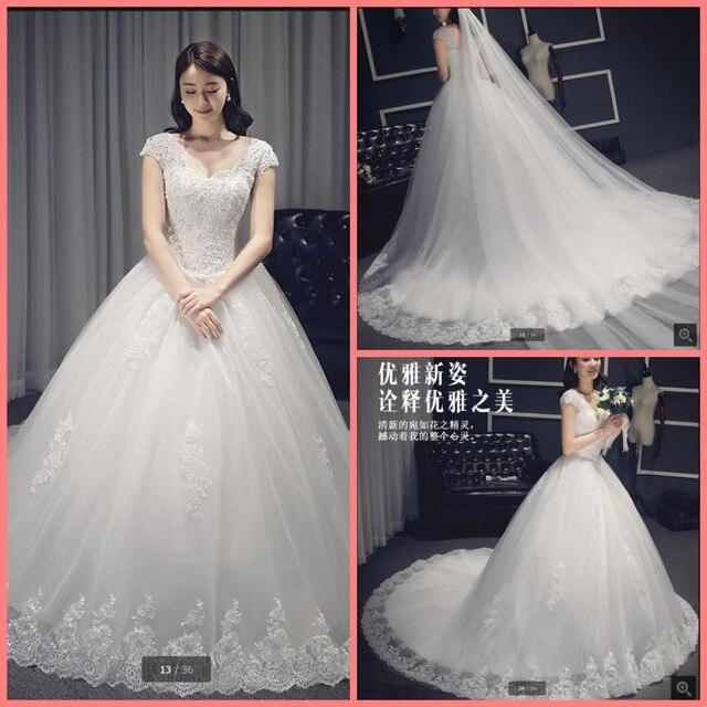 2df30612cde Vestido De Novia ball gown cap sleeve princess wedding dress puffy lace  appliques beaded muslim modest bride dress hot sale