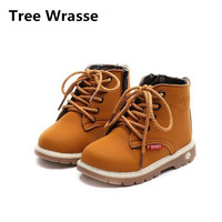 Tree Wrasse Children's Shoes Autumn 2017 Kids Fashion Martin Boots British Wind Single Boots For Girls Boys Sport Shoes