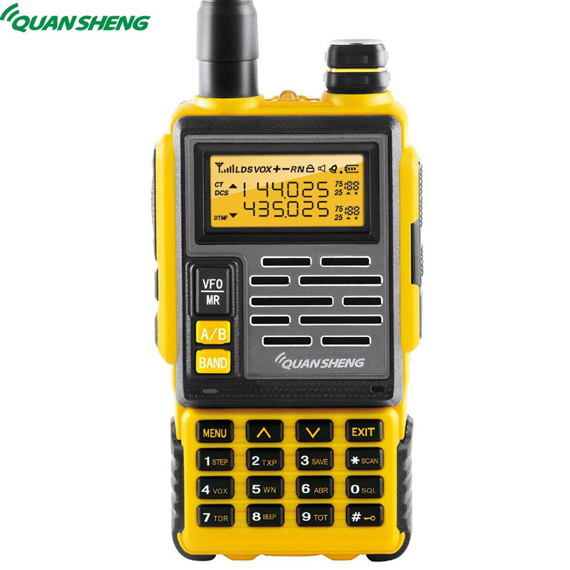 Quansheng TG 007 VHF UHF Dual Band DTMF FM 10KM Long Range 128CH Ham Radio Walkie