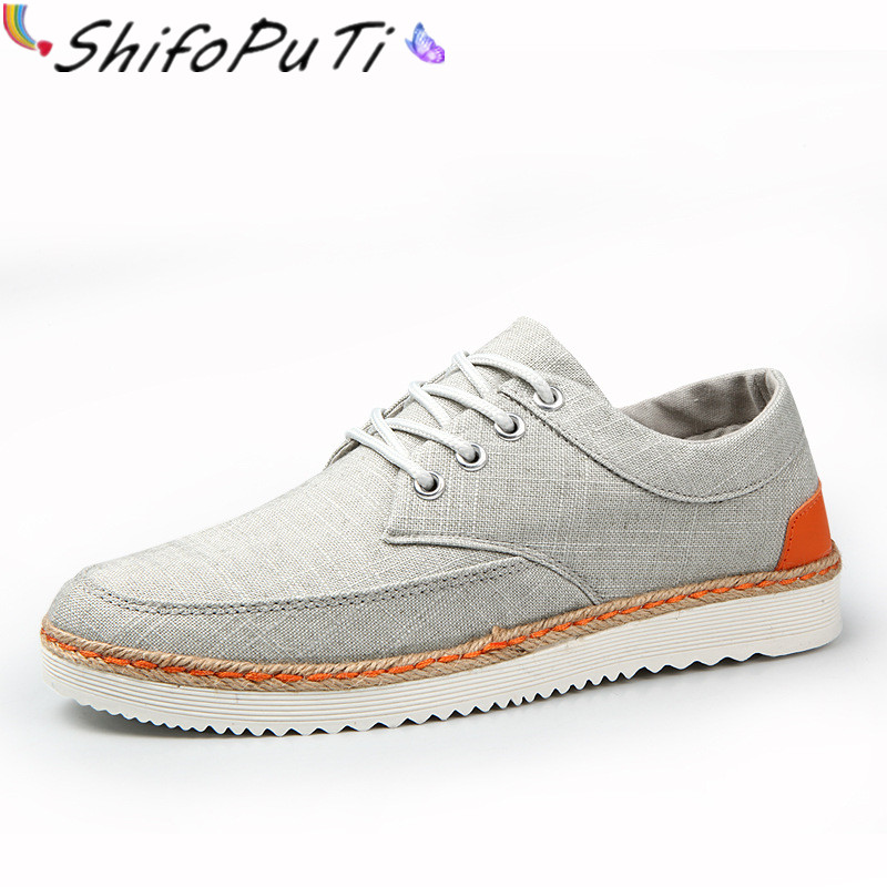 ФОТО High Quality 2017 British Canvas Shoes Men Flats Breathable Lace-up Mens Casual Shoes Plus Size 12 US Brand Shoes Fashion TH045