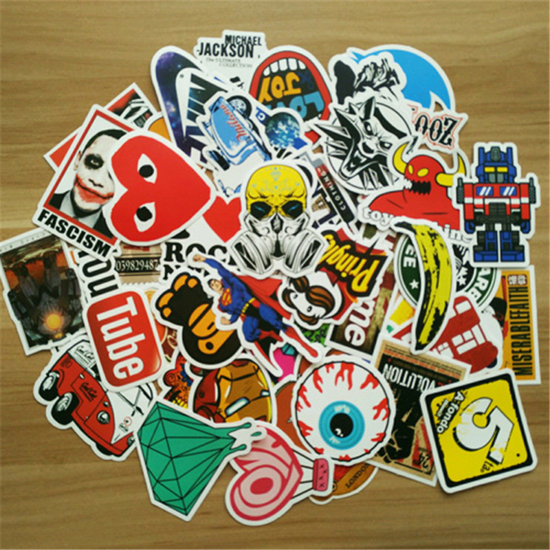50pcs Laptop Sticker For Surface Pro 4 Ipad Air 2 Mini Notebook For Travel Box Car Xiaomi Tv Vinyl Sticker Portatil Pegatinas