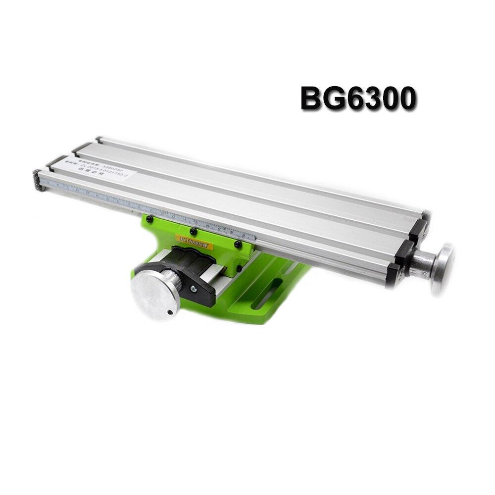 1PC Mini Multifunktions BG6300 Schraubstock Leuchte Bohrer Fräsen Maschine Verbindung Tisch Einstellung Arbeitstisch
