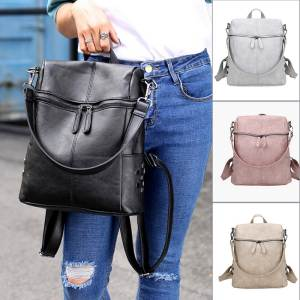 Monerffi Backpack School-Bag Teenager Female Waterproof Women Casual Fashion Ladies Zipper