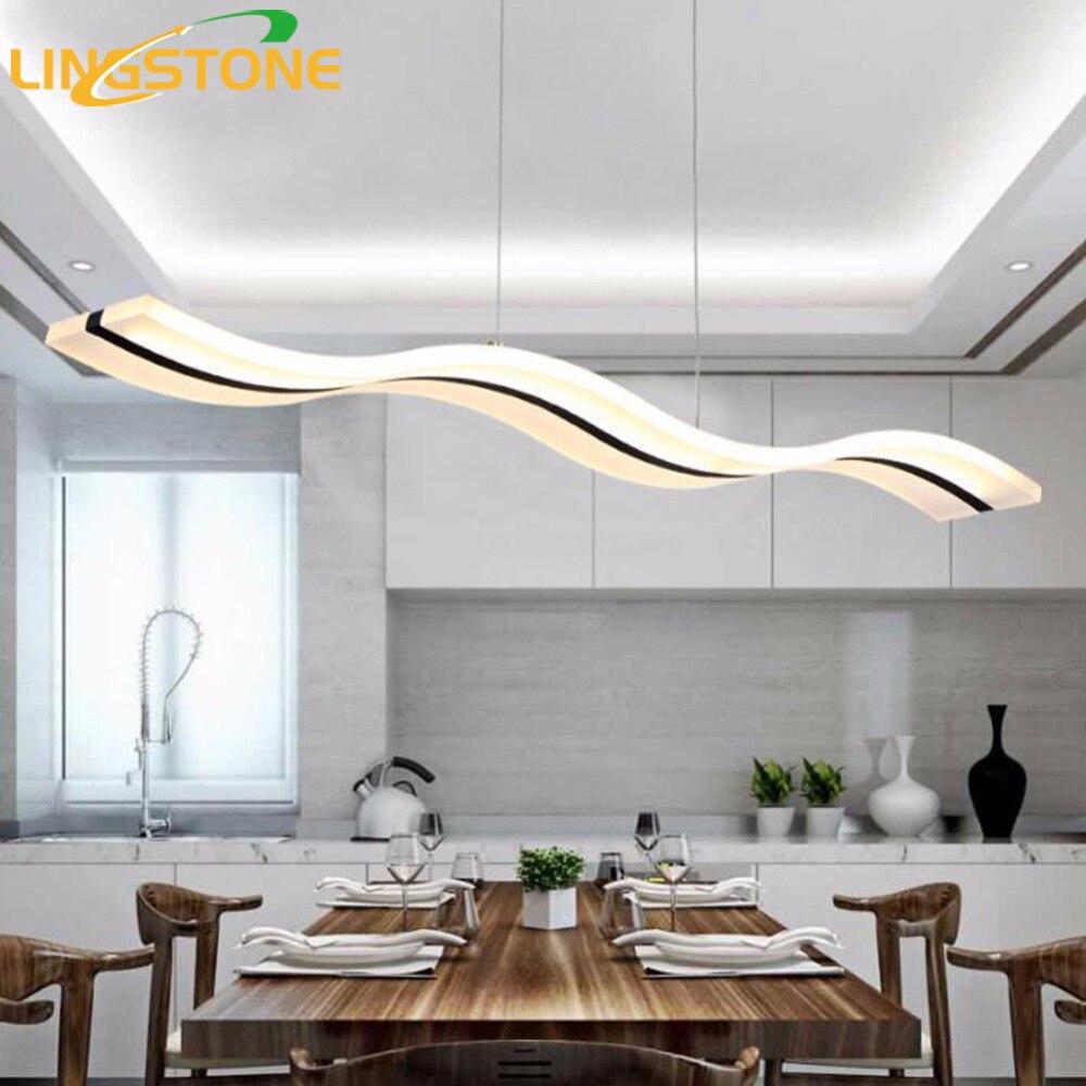 Moderne pendentif lumières cuisine salon dinging chambre luminaires led lampe suspendue luminaires dimmable avec contrôle ac90