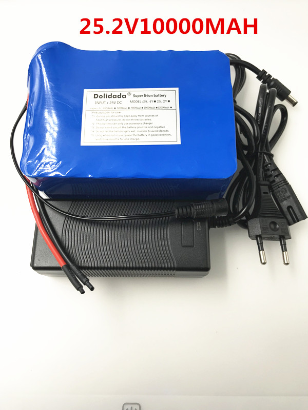 2018 New 25.2V 10000 mah 18650 Battery lithium battery 25.2v Electric Bicycle moped /electric/lithium ion battery pack+Charger 2016 promotion new standard battery cube 3 7v lithium battery electric plate common flat capacity 5067100 page 5