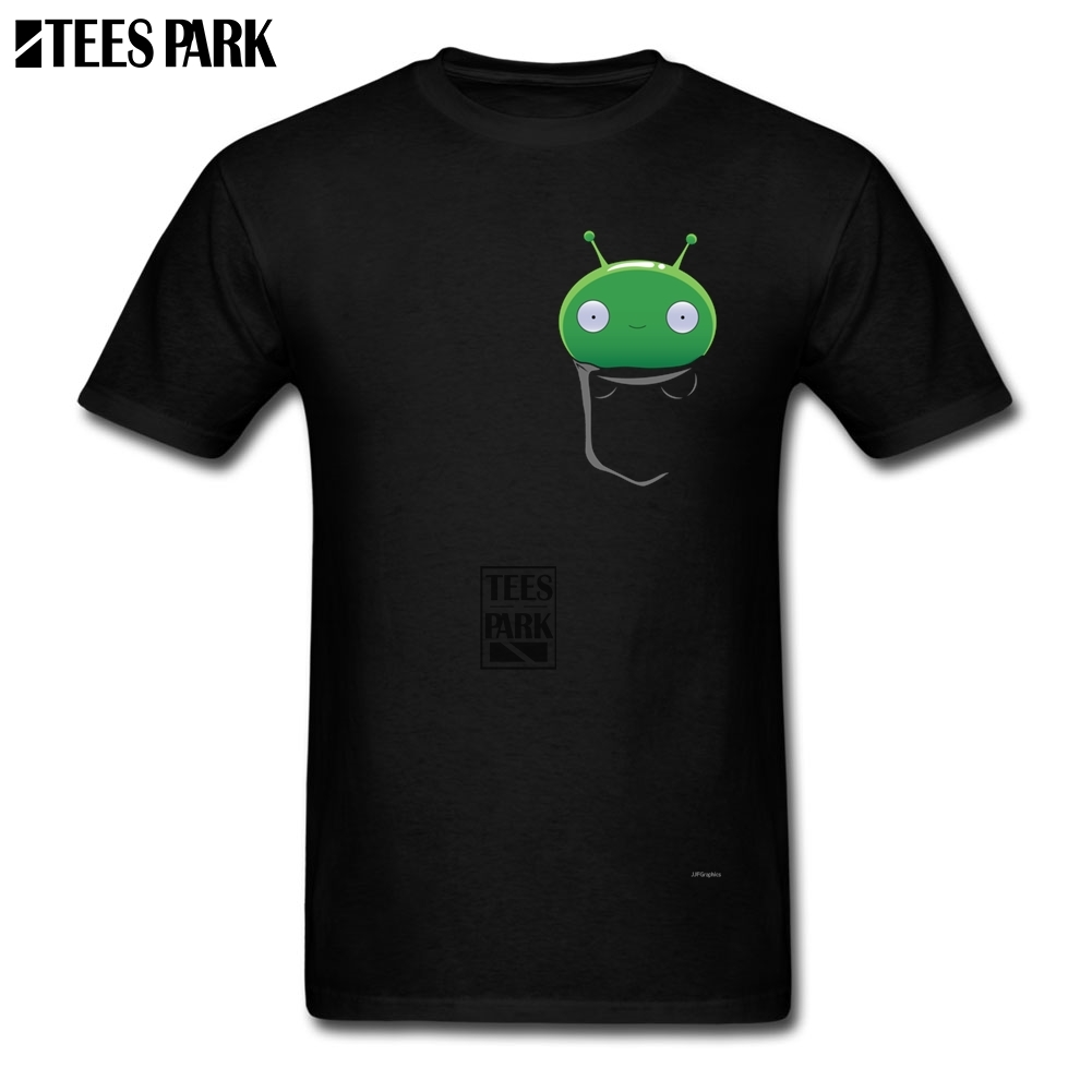 Tee Tops 2019 Pocket Mooncake Final Space White T Shirt O Neck Crazy Men's Geek T Shirts For Men