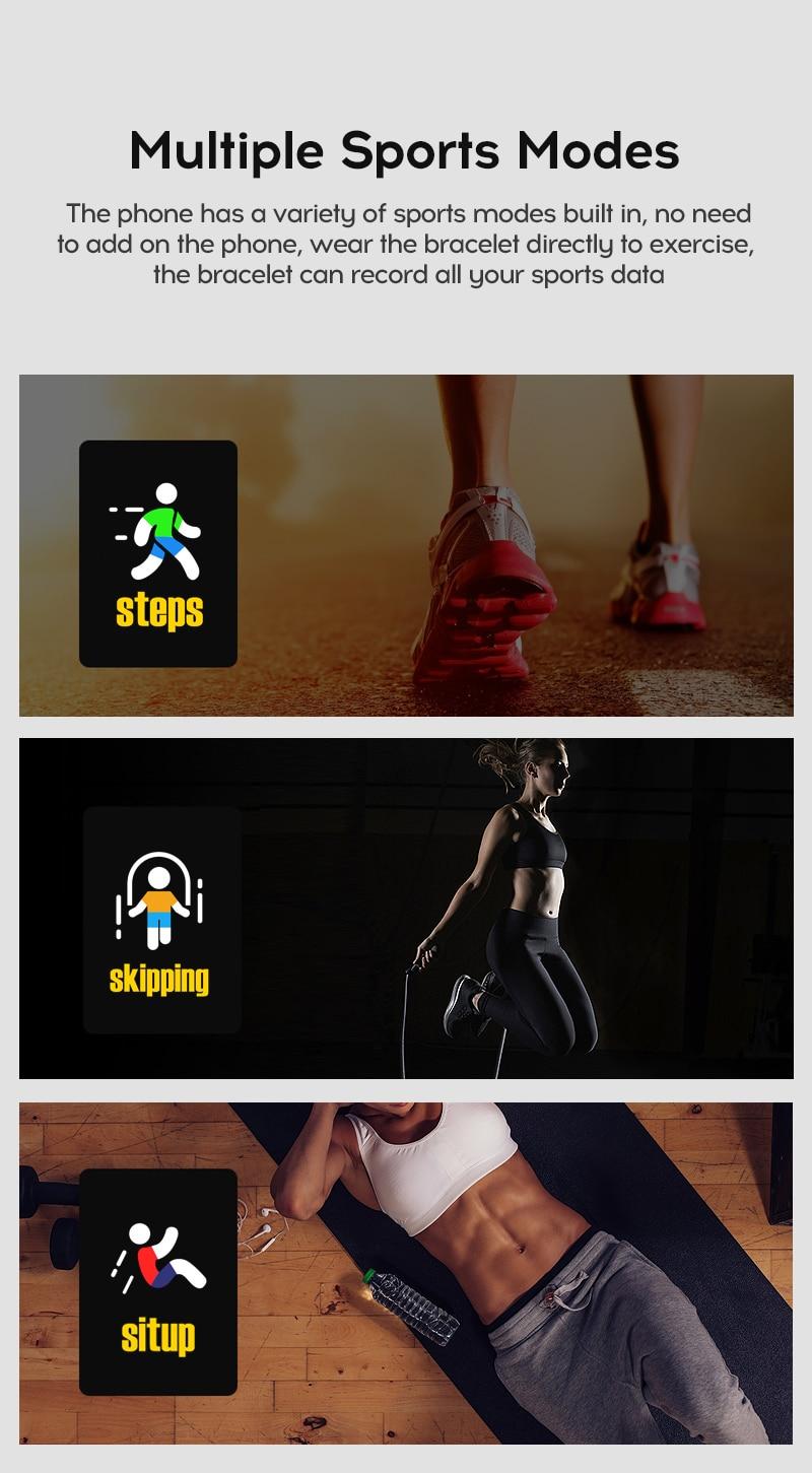 Watch bracelet Fitness smart 116 Plus blood pressure, waterproof Sport Modes