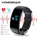 100% nueva original bluetooth elegante pulsera de la pulsera deportes de ritmo cardíaco impermeable para ios android smartwatch pk xiomi mi banda 2