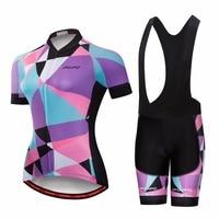 Pro Girl Bicycle Wear MTB Cycling Clothing Women cycling sets Bike uniform Cycle shirt Summer Lady cycling jersey set