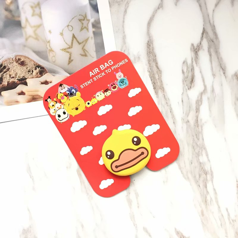 Air bag cell phone bracket Cartoon Stitch Pooh Cat Dog Mickey Minnie Phone Stand Finger Holder For iPhone X Samsung S9 universal