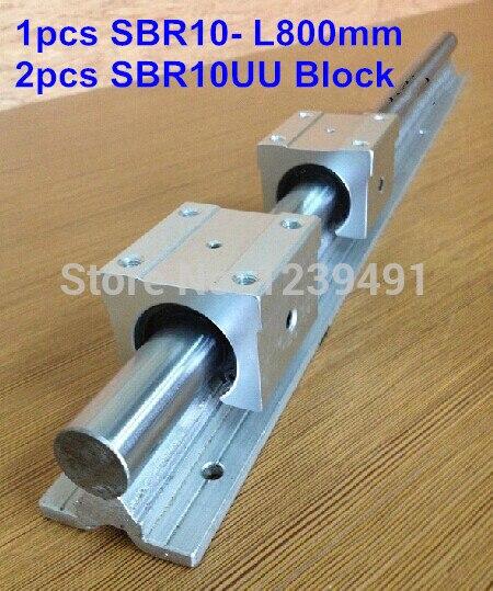 1pc SBR10 L800mm linear guide + 2pcs SBR10 linear bearing block cnc router 1pc sbr10 l300mm linear guide 2pcs sbr10 linear bearing block