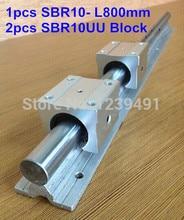 купить 1pc SBR10 L800mm linear guide + 2pcs SBR10 linear bearing block cnc router онлайн