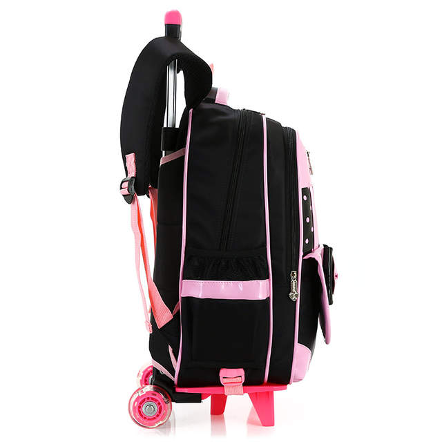 c50c2aa135eb Online Shop 3PCS set girl trolley case 3D child school bag kids 6-15 years  students suitcase Free doll waterproof backpack travel luggage