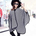 2016 Winter Houndstooth Poncho soft moben plaid cape check scarf for Women Fashion Knitwear ZS70