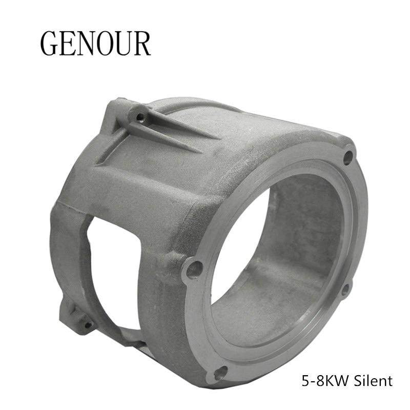 Support avant en aluminium silencieux de générateur Diesel pour les pièces de générateur de KAMA Kipor actionnées par moteur Diesel refroidi par Air de 5-8kw 4 temps