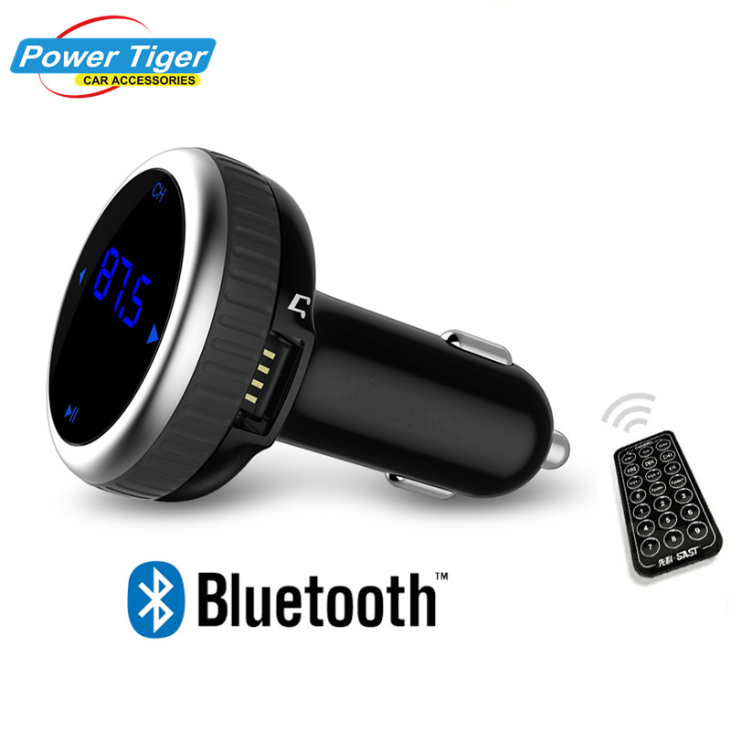 Car Handsfree FM Transmitter MP3 Player Bluetooth Dual USB Port with Wireless Remote Control Micro SD TF Music Playing Auto Kit 1 1 lcd car mp3 player fm transmitter w usb sd tf remote controller black blue