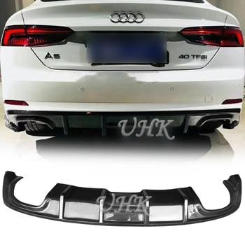 UHK 2017 Audi A5 S5 RS5 Için Karbon Fiber Arka tampon Dudak Arka Difüzör Splitter Araba Yarış Vücut kitleri Aksesuarları koruyucu