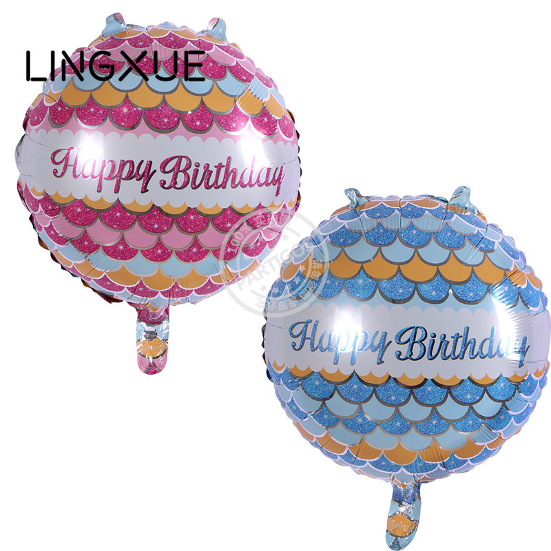 Hot sale 10pcs/lot 18inch happy birthday balloon metallic ballon for birthday pa