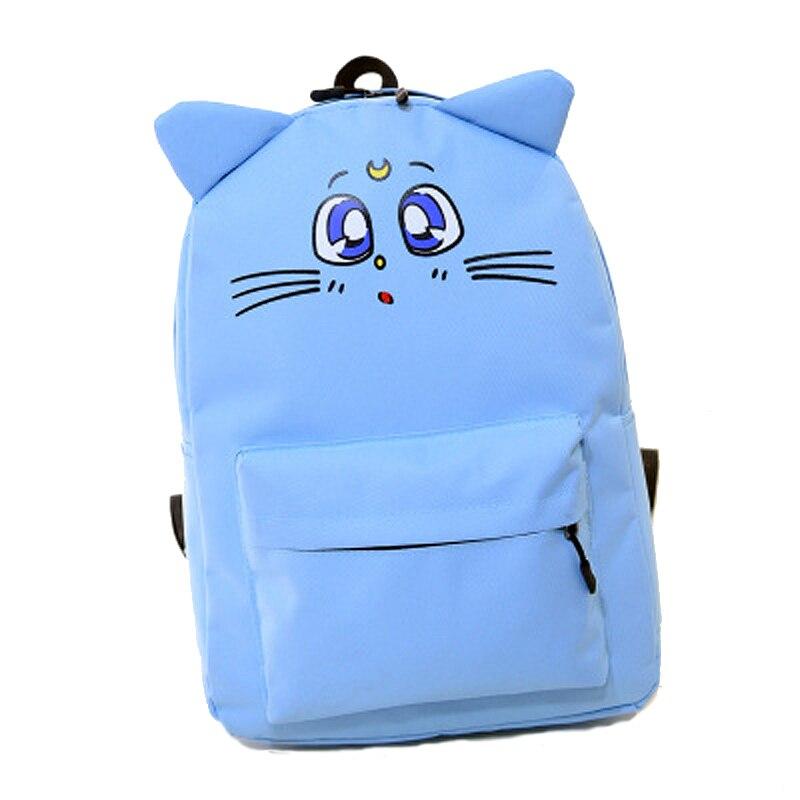 Sailor Moon Canvas Backpack Harajuku Style Backpack Cute Cat Shoulder font b Bag b font font