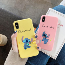 Remazy Stitch Phone Cases For iPhone 8 7 6S Plus X XS MAX XR Case Silicone Soft Cartoon Painted Case for iPhone XR X XS MAX 6 6S x stitch