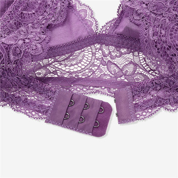 Sexy Wireless Bralette For Women 3/4 Cup Female Lace Bra Unlined Underwear Fashion 6 Colors Backless Crop Top Wire Free Lingerie 4