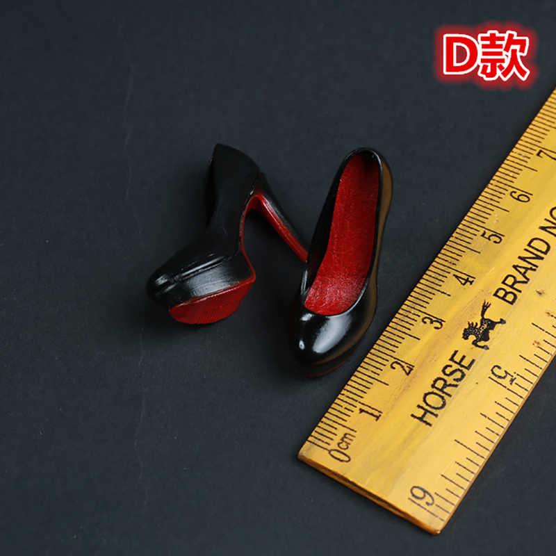 TopToys 1/6 Ölçekli Ayakkabı Giyim aksesuarları MCTOYS P-052 Siyah Yüksek topuklu Moda Fit 12 Inç Kadın Phicen Figürleri Vücut bebek