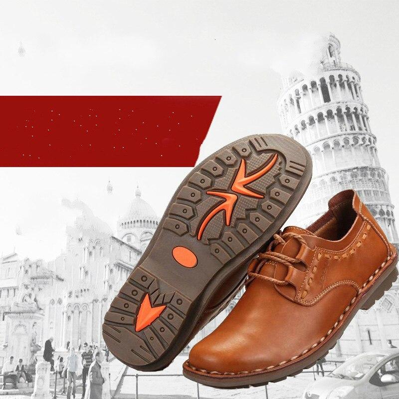 Tout nouveau hommes chaussures hommes décontracté 100% en cuir véritable appartements chaussures de conduite affaires chaussures pour hommes décontracté meilleure qualité