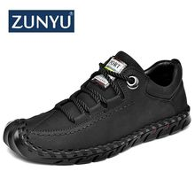 ZUNYU Men's Leather Casual Shoes Moccasins Men Loafers Luxury Brand Spring New Fashion Sneakers Male Boat Shoes Suede Krasovki