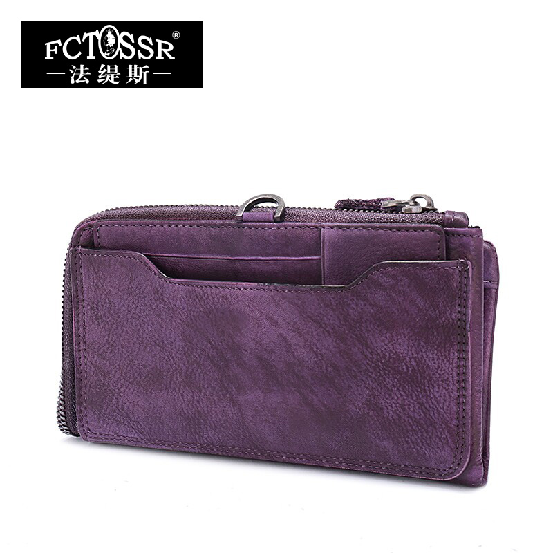 New Women Bags 2017 Soft Cowhide Leather Vintage Wallet  Zipper Dark Leisure Female  Envelope Bag Solid Colors