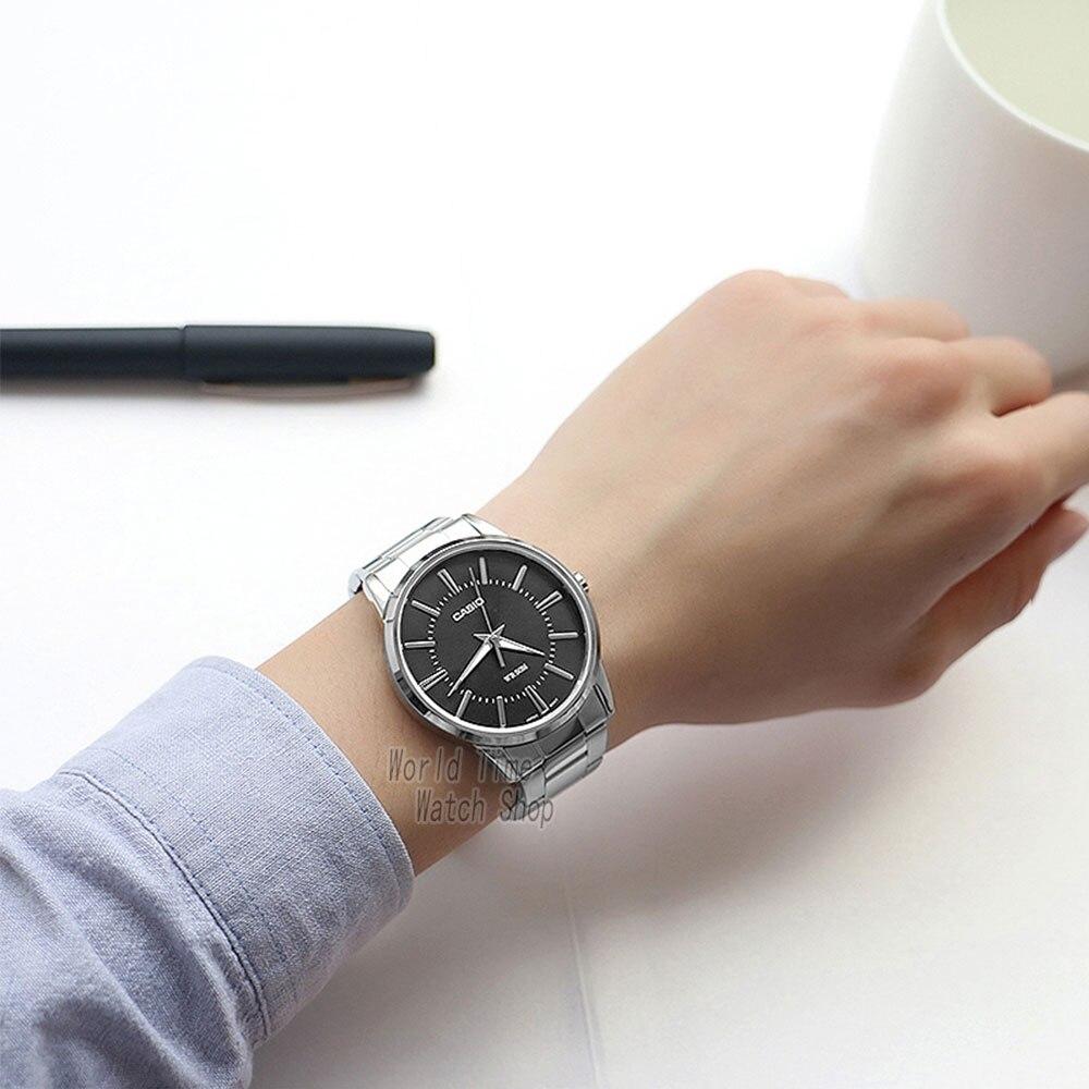 48242f83c91 Casio relógio Analógico de Quartzo dos homens Assistir Cinta de Aço Simples  Relógio de Ponteiro MTP 1303 Nightlight em Relógios de quartzo de Relógios  no ...