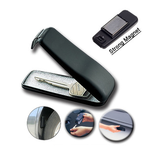 Image 1 - Magnetic Car Bike Stash Safe Lock Spare Key Box Hidden Storage Safe Security Box For Home Office Car Caravan Truck