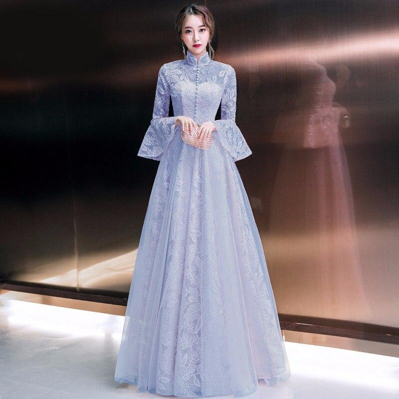2019 Spring Mandarin Collar Evening Party Dress Elegant ...   Mandarin Collar Cocktail Dress