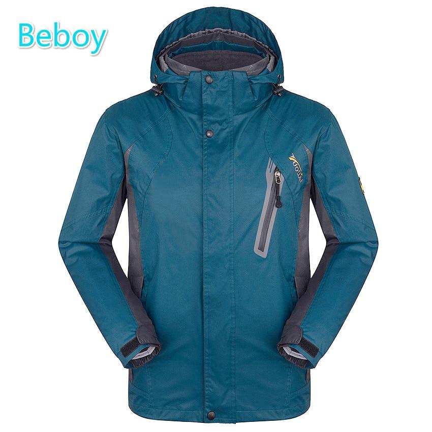 ФОТО Beboy 3in1 Hiking Fleece Jacket Windbreaker Men Waterproof Outdoor Camping Climbing Jacket Windstopper Thermal Hunting Jacket