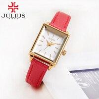 Top Original JULIUS 787 Women Fashion Casual Quartz Watch Ladies Leather Good Quality Best Gift