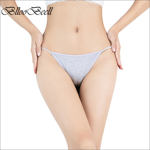 BllooBeell 4pcs Low Waist Women's Underwear Panties Sexy Modal Briefs Bikini Solid Female Thong Seamless Lady G String Size M/L
