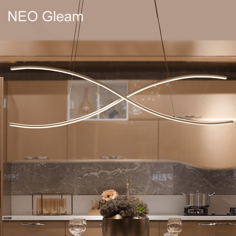 NEO GLeam New Arrival Led Pendant Lamp For Dining Kitchen Room Bar Pendant Lights lamparas colgantes Aluminum white AC85-265V