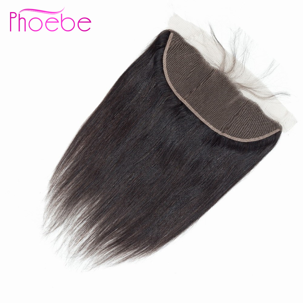 Phoebe Straight Lace Frontal 13X4 Ear To Ear Lace Frontal Closure Indian Non Remy Human Hair Lace Frontal Closure With Baby Hair